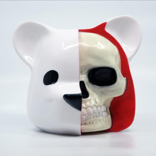 Dissected Bear Head Designer Vinyl Art Toy