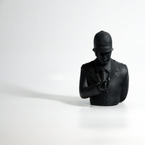 Black Rude Copper Designer Vinyl Art Toy