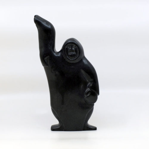 Inuit Sculpture - Man With Seal
