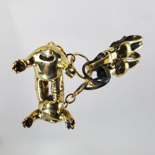 Hug Brass Keychain by Blamo