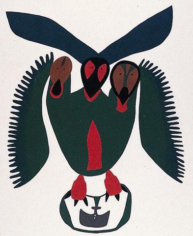 Inuit Art Print - Raven Steals Ulu - Framed