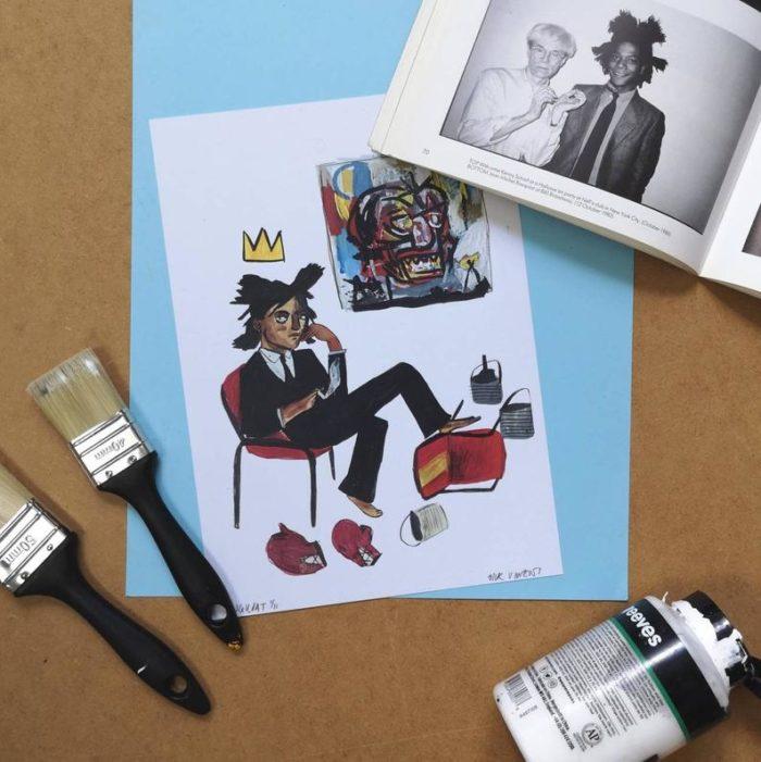 Jean Michel Basquiat Print by Dick Vincent