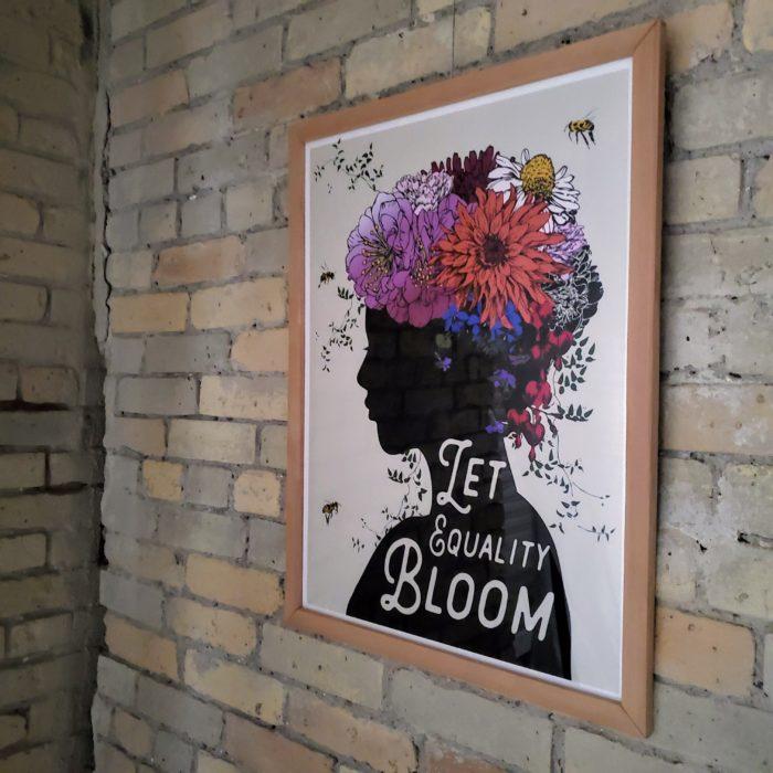 Let Equality Bloom - Protest art poster