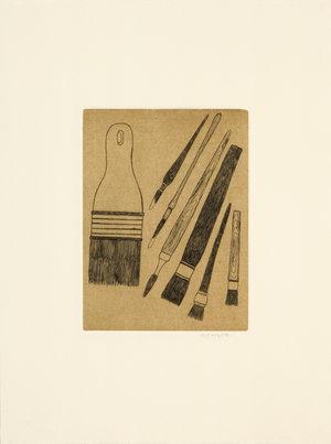 Amiarutiit (Brushes) limited edition Inuit art print by Pudlo Samajualie