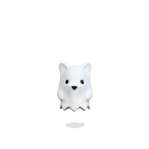 Matte White Ghost Bear Art Toy