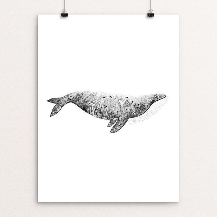 Plastic Ocean Whale poster by Stefan Petursson