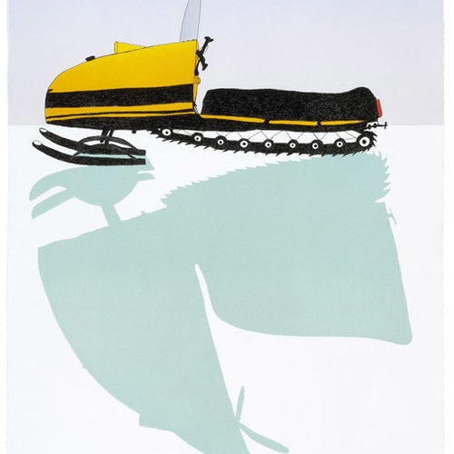 Snowmobile - limited edition art print