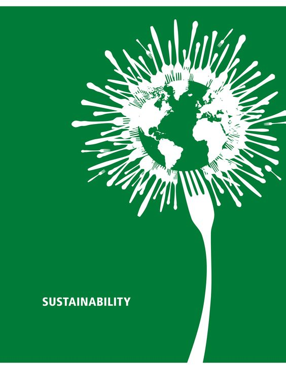 Sustainability poster by artist Jing Zhou