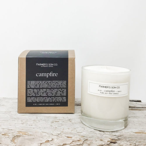 Campfire candle by Farmer's Son Co.
