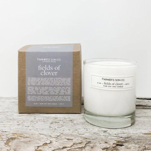 Fields of Clover candle by Farmer's Son Co.