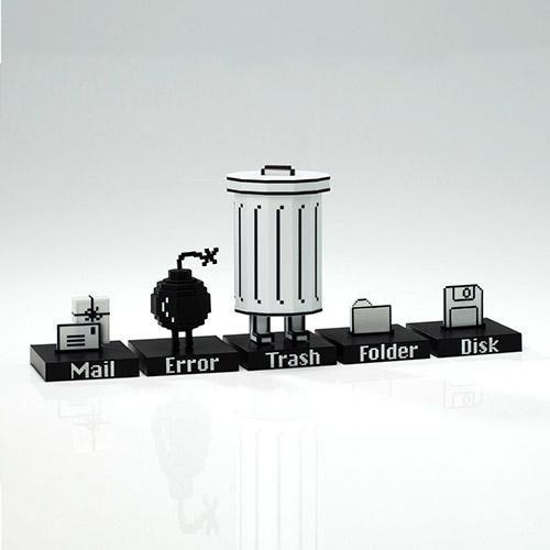 Trashbot and Friends Desk Set