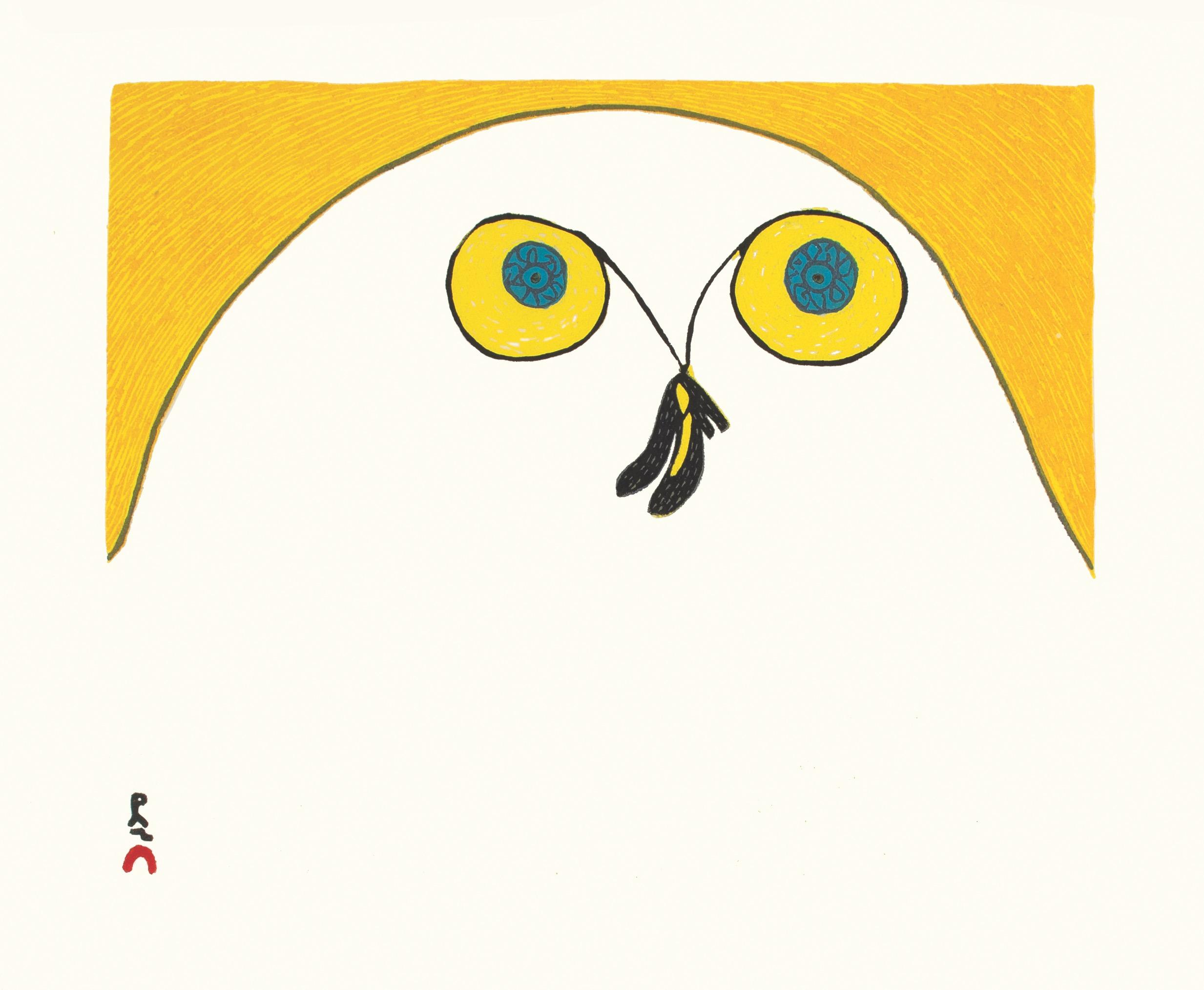 Strutting Owl by Ningiukulu Teevee