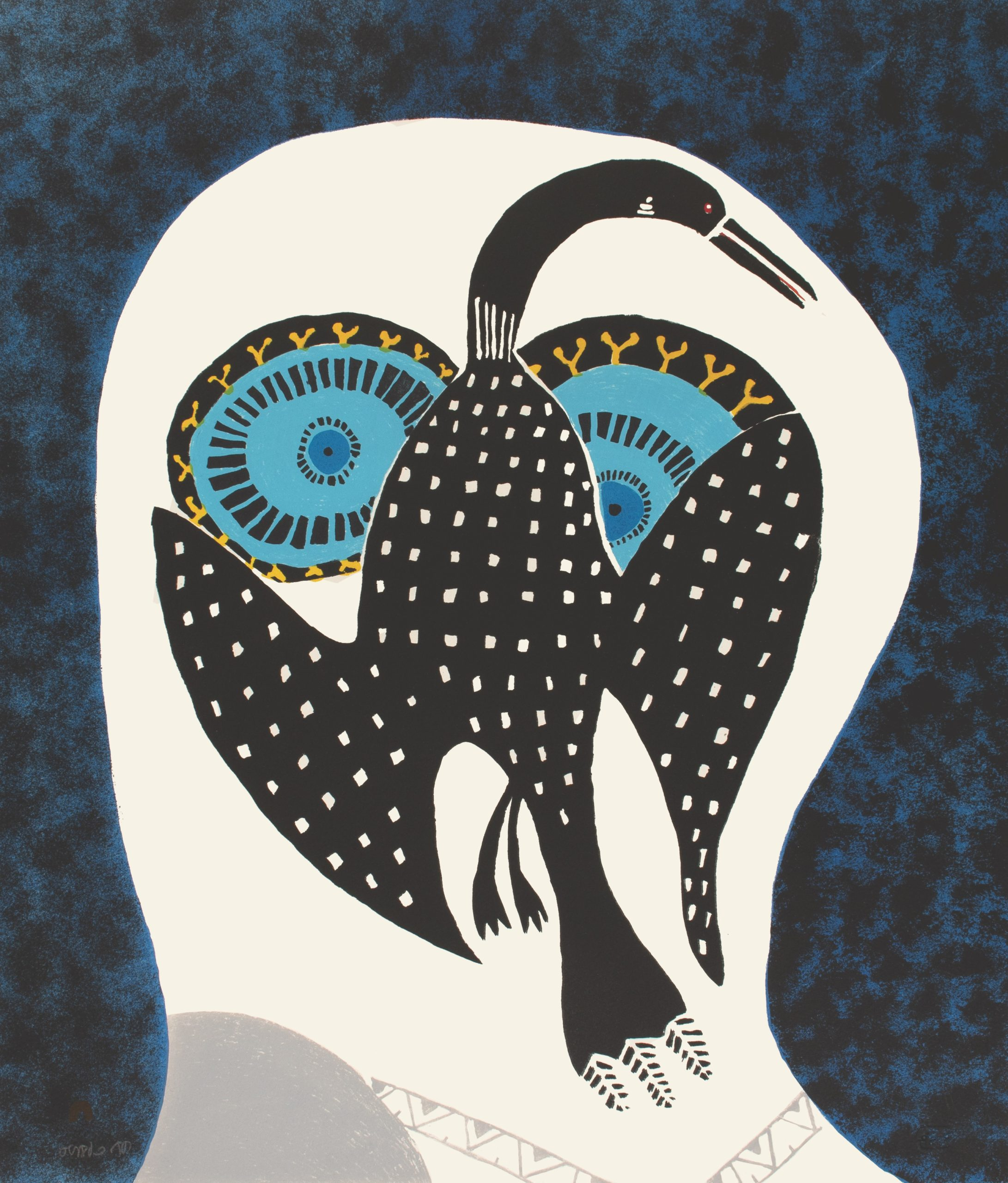Owl Dreams of Loon by Ningiukulu Teevee