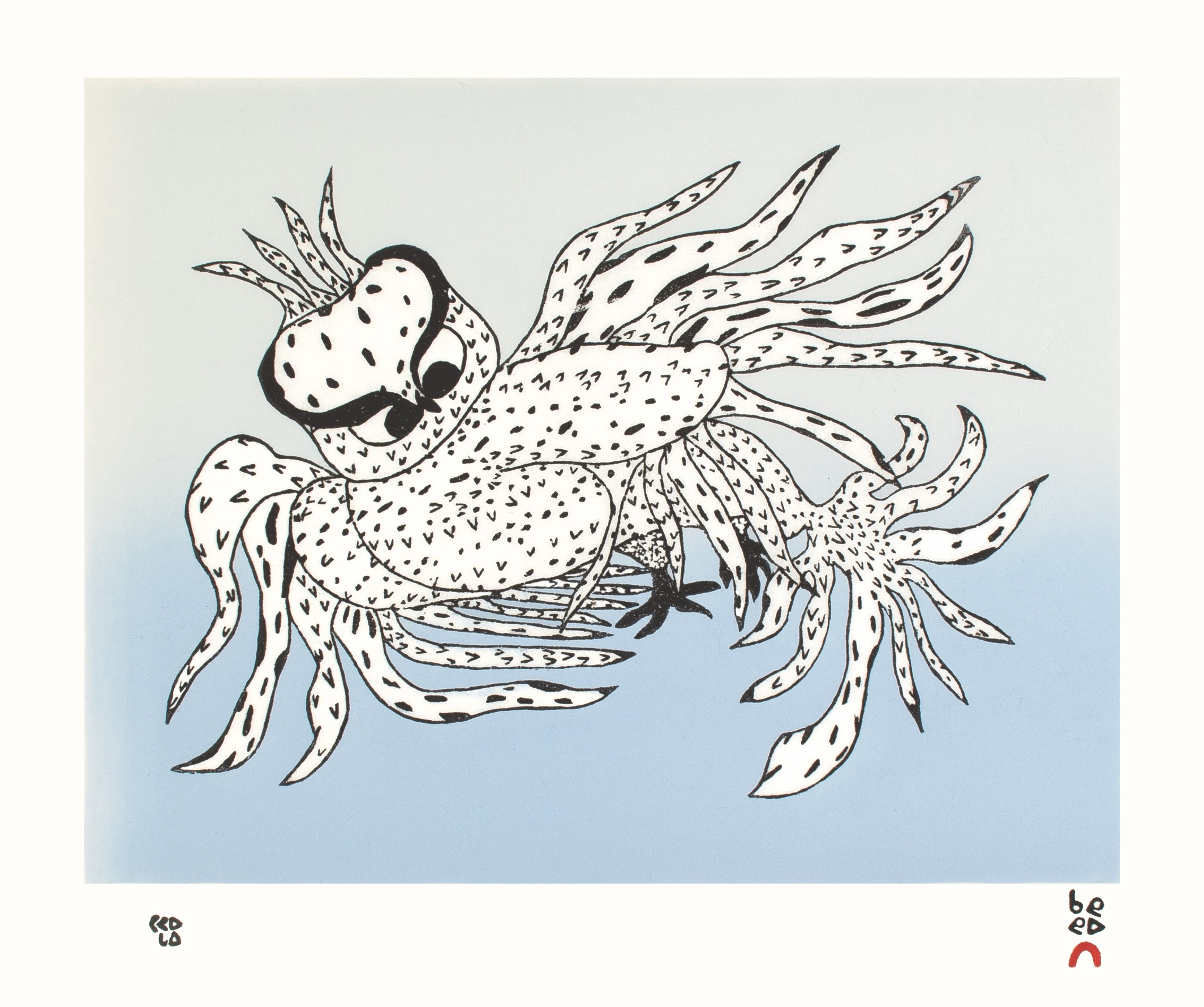 Besotted Owl by Ooloosie Saila - 2021 Cape Dorset Annual Print Collection